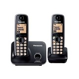 PANASONIC Cordless Phone [KX-TG3712] - Black - Wireless Phone